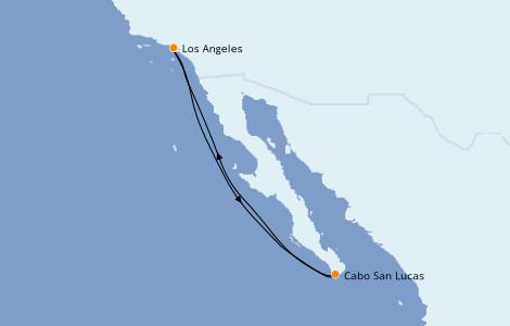Itinerario del crucero Riviera Mexicana 5 días a bordo del Discovery Princess
