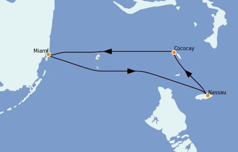 Itinerario del crucero Caribe del Este 3 días a bordo del Freedom of the Seas