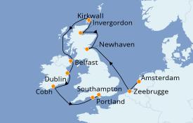 Itinerario de crucero Islas Británicas 11 días a bordo del Norwegian Dawn
