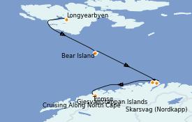 Itinerario de crucero Fiordos y Noruega 10 días a bordo del Silver Wind