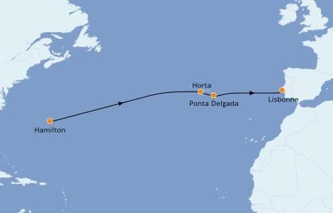 Itinerario del crucero Islas Canarias 11 días a bordo del Silver Dawn