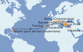 Itinerario de crucero Mediterráneo 29 días a bordo del Island Princess