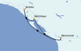 Itinerario de crucero Alaska 6 días a bordo del Grand Princess