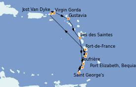 Itinerario de crucero Caribe del Este 13 días a bordo del Le Dumont d'Urville