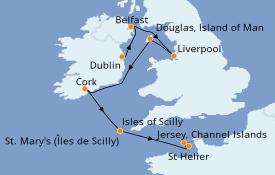 Itinerario de crucero Islas Británicas 8 días a bordo del L'Austral