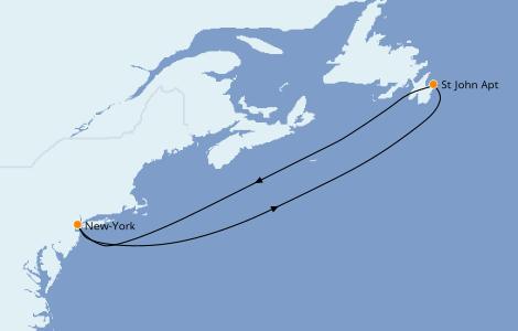 Itinerario del crucero Canadá 4 días a bordo del Carnival Magic
