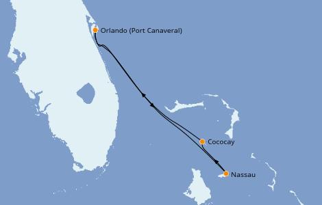 Itinerario del crucero Caribe del Este 4 días a bordo del Mariner of the Seas
