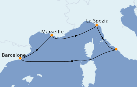 Itinerario de crucero Mediterráneo 6 días a bordo del Harmony of the Seas