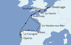 Itinerario de crucero Trasatlántico y Grande Viaje 2021 11 días a bordo del Norwegian Star