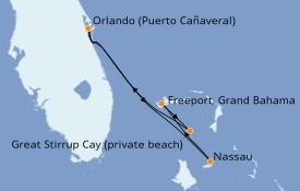 Itinerario de crucero Bahamas 5 días a bordo del Norwegian Escape