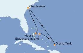 Itinerario de crucero Bahamas 8 días a bordo del Carnival Sunshine