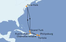 Itinerario de crucero Caribe del Este 11 días a bordo del Norwegian Gem