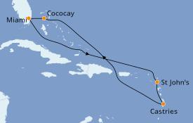 Itinerario de crucero Caribe del Este 9 días a bordo del Brilliance of the Seas
