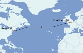 Itinerario de crucero Canadá 10 días a bordo del Queen Victoria
