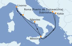 Itinerario de crucero Mediterráneo 8 días a bordo del Norwegian Spirit