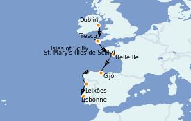 Itinerario de crucero Islas Británicas 12 días a bordo del Silver Cloud Expedition
