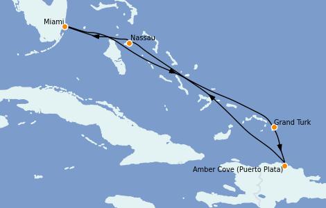 Itinerario del crucero Caribe del Este 6 días a bordo del Carnival Celebration