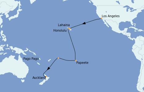 Itinerario del crucero Australia 2022 21 días a bordo del Majestic Princess