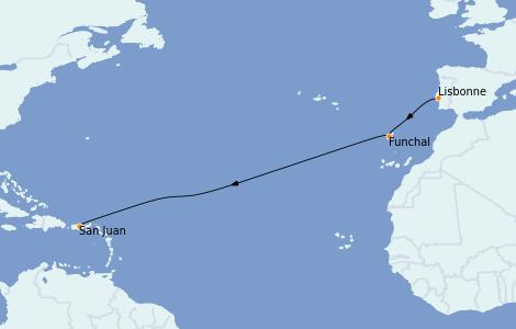 Itinerario del crucero Islas Canarias 10 días a bordo del Silver Dawn