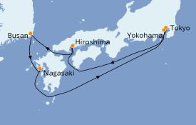 Itinerario de crucero Asia 7 días a bordo del Costa Mediterranea