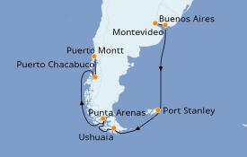 Itinerario de crucero Suramérica 17 días a bordo del Seven Seas Voyager