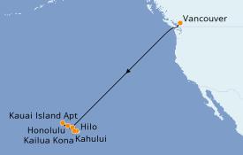 Itinerario de crucero Hawaii 12 días a bordo del