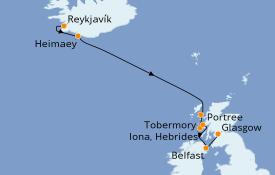 Itinerario de crucero Islas Británicas 8 días a bordo del Le Jacques Cartier