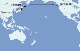 Itinerario de crucero Asia 13 días a bordo del Celebrity Solstice