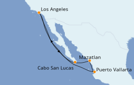 Itinerario de crucero Riviera Mexicana 8 días a bordo del Majestic Princess