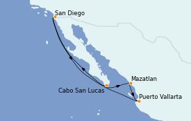 Itinerario de crucero Riviera Mexicana 8 días a bordo del ms Zuiderdam