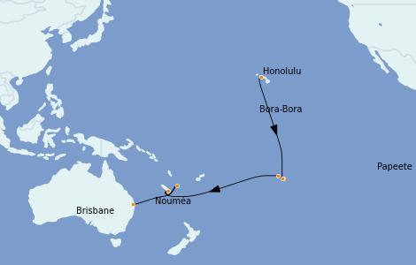 Itinerario del crucero Trasatlántico y Grande Viaje 2022 19 días a bordo del Quantum of the Seas