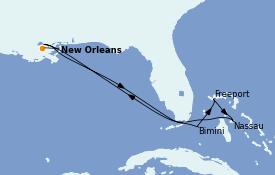 Itinerario de crucero Bahamas 8 días a bordo del Carnival Glory