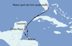 Itinerario de crucero Caribe del Oeste 7 días a bordo del Allure of the Seas