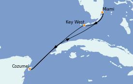 Itinerario de crucero Caribe del Oeste 6 días a bordo del Celebrity Silhouette