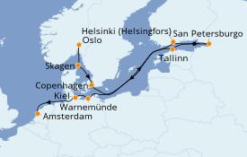 Itinerario de crucero Mar Báltico 14 días a bordo del Azamara Journey