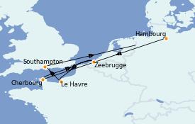 Itinerario de crucero Atlántico 8 días a bordo del MSC Magnifica