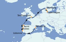 Itinerario de crucero Mediterráneo 10 días a bordo del MSC Musica