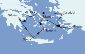 Itinerario de crucero Grecia y Adriático 8 días a bordo del Silver Spirit
