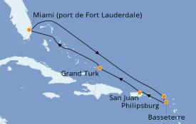 Itinerario de crucero Caribe del Este 9 días a bordo del Carnival Breeze