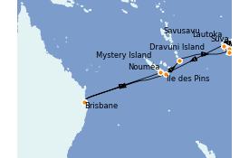 Itinerario de crucero Australia 2022 15 días a bordo del Coral Princess