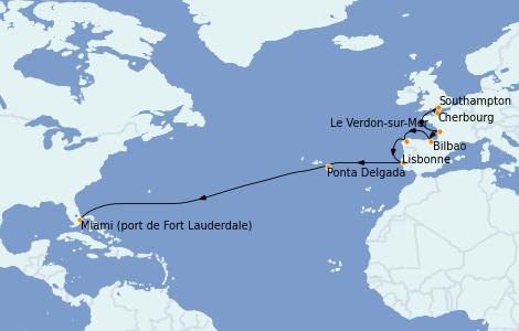 Itinerario del crucero Mediterráneo 16 días a bordo del Emerald Princess