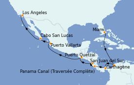 Itinerario de crucero Riviera Mexicana 16 días a bordo del Norwegian Encore