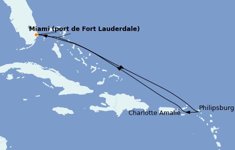 Itinerario del crucero Caribe del Este 7 días a bordo del Wonder of the Seas