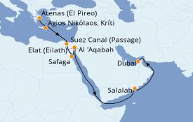 Itinerario de crucero Mar Rojo 17 días a bordo del Azamara Journey