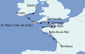 Itinerario de crucero Islas Británicas 9 días a bordo del L'Austral