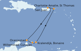 Itinerario de crucero Caribe del Este 8 días a bordo del Freedom of the Seas