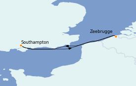 Itinerario de crucero Islas Británicas 4 días a bordo del Celebrity Silhouette