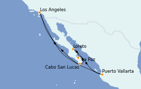 Itinerario de crucero Riviera Mexicana 11 días a bordo del Crown Princess