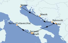 Itinerario de crucero Mediterráneo 8 días a bordo del Azamara Quest
