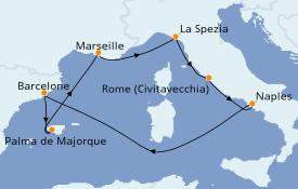 Itinerario de crucero Mediterráneo 8 días a bordo del Harmony of the Seas